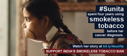 Anti –tobacco campaign's face dies combating cancer, yet not before taking on BJP MP